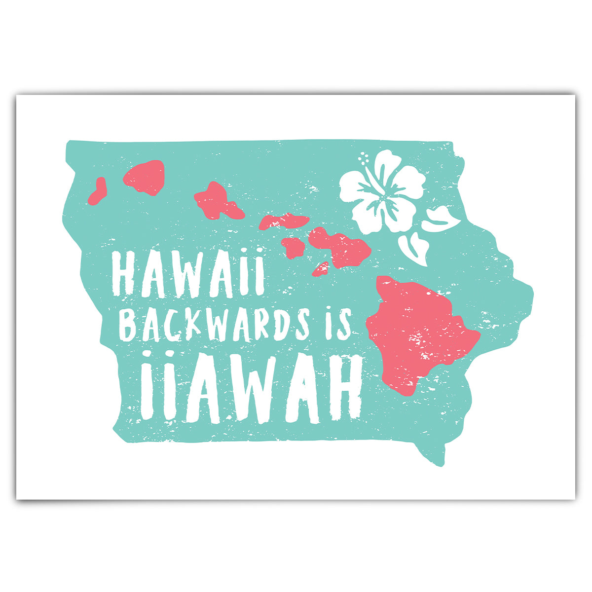Hawaii Backwards is iiawaH Greeting Card