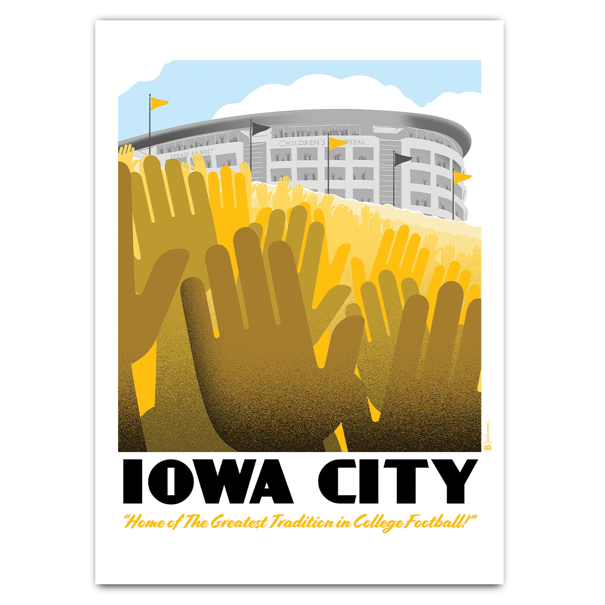 Iowa City Wave Greeting Card
