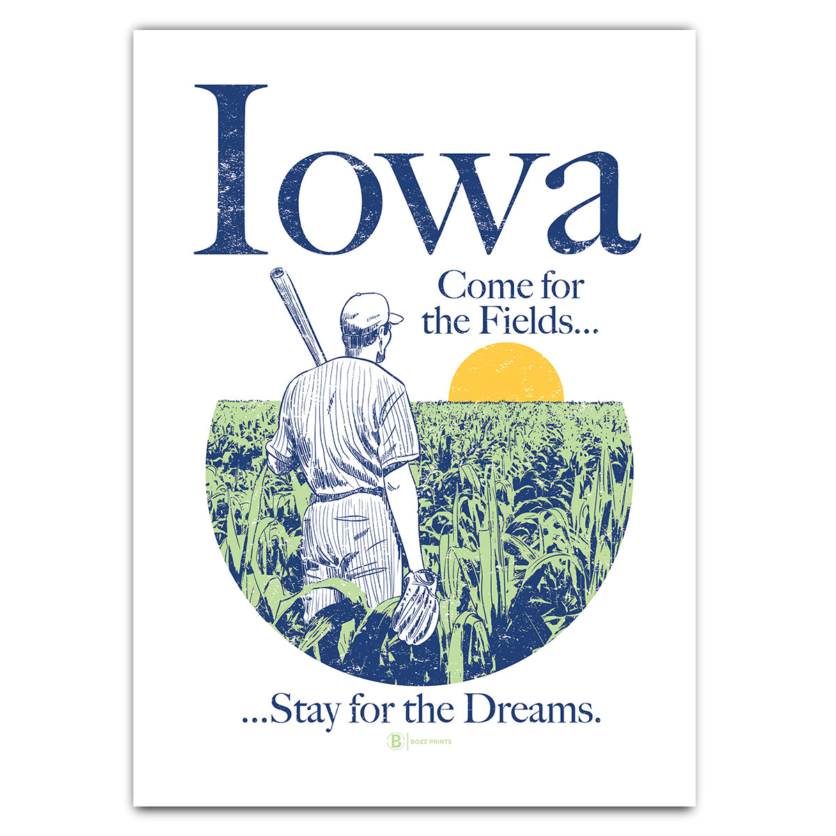 Iowa Come for the Fields Greeting Card