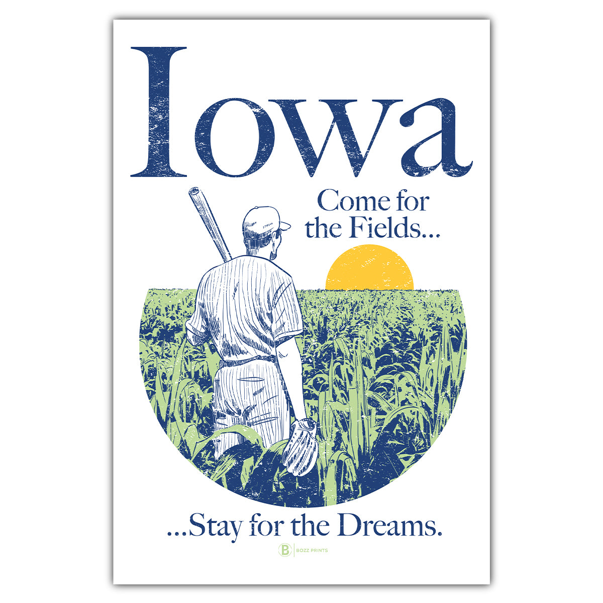 Iowa Come for the Fields Postcard
