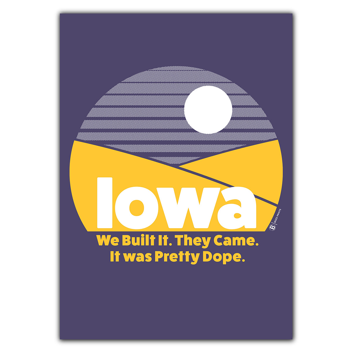 Iowa Pretty Dope Greeting Card