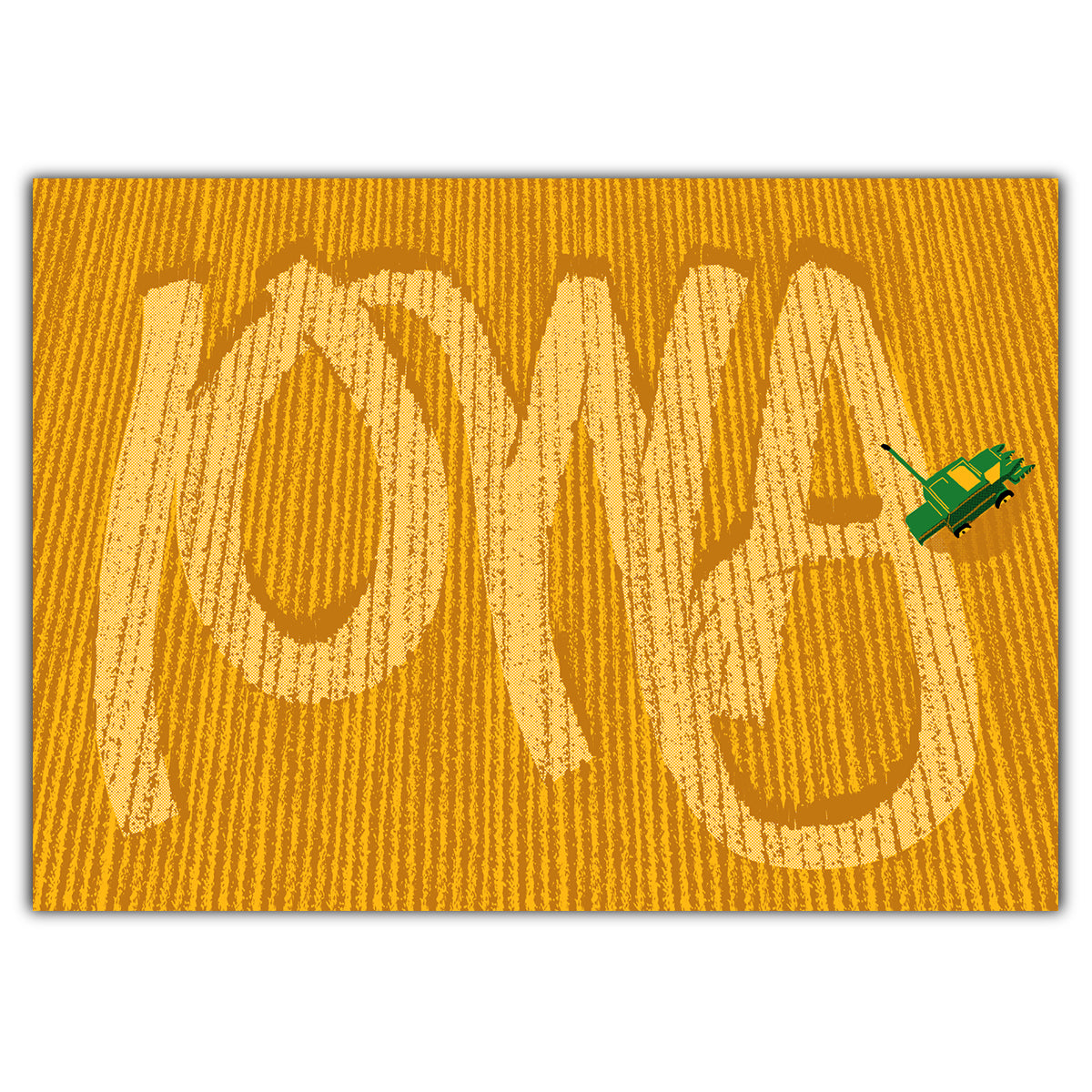 Iowa Harvest Greeting Card