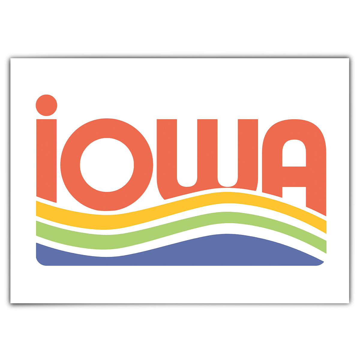 Iowa Waves Greeting Card