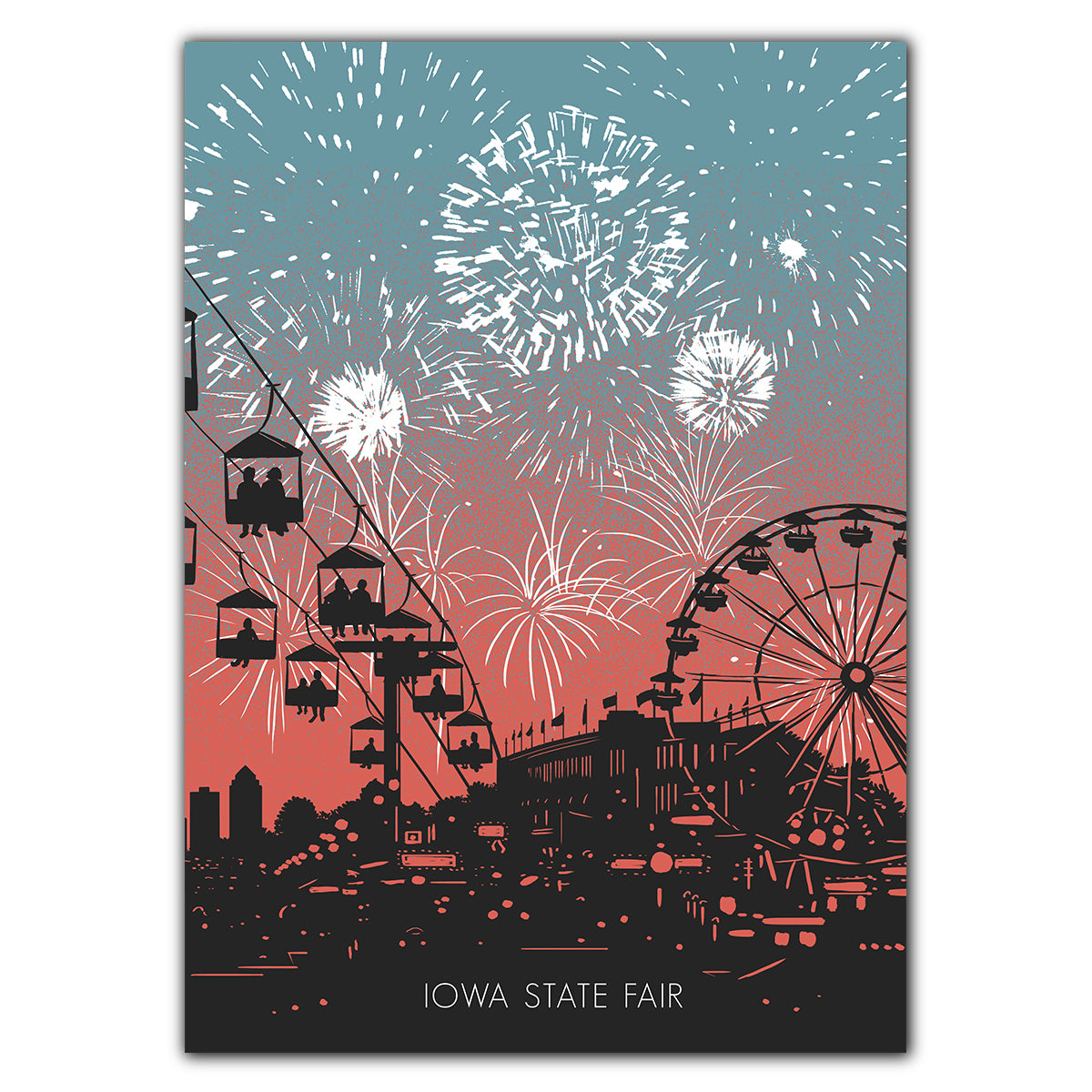 Iowa State Fair Fireworks Greeting Card