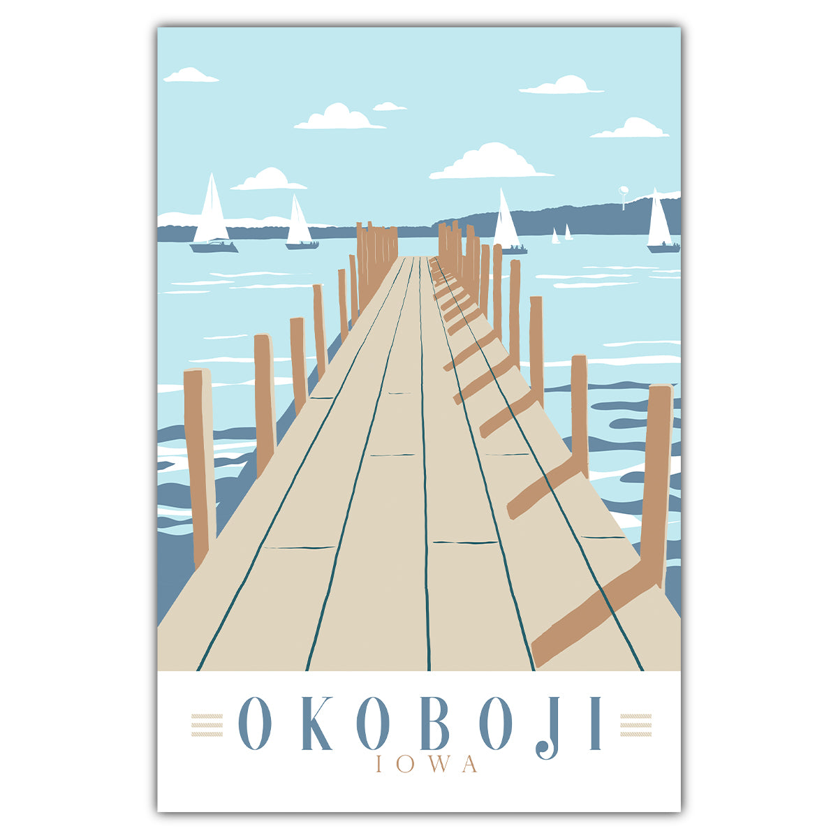 Lake Okoboji Dock Postcard