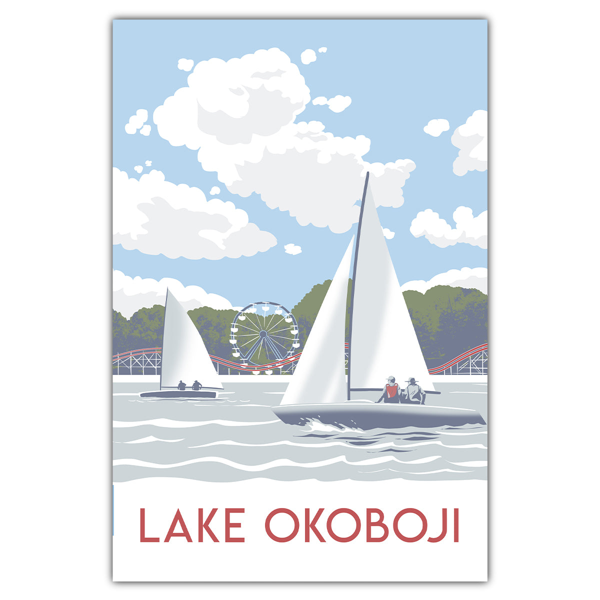 Lake Okoboji Postcard
