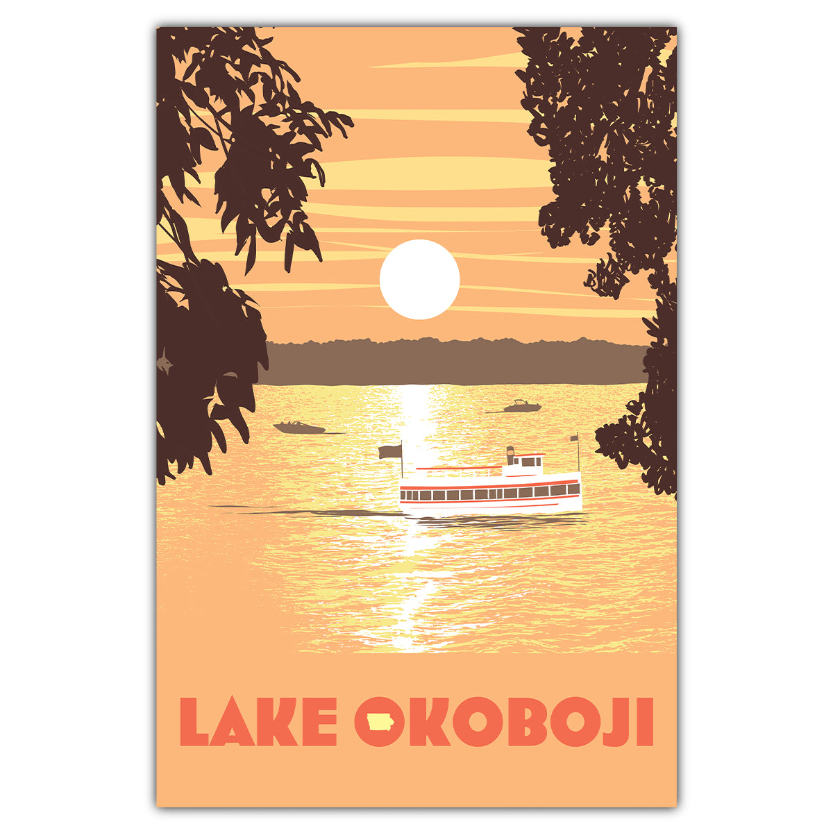 Lake Okoboji Sunset Postcard