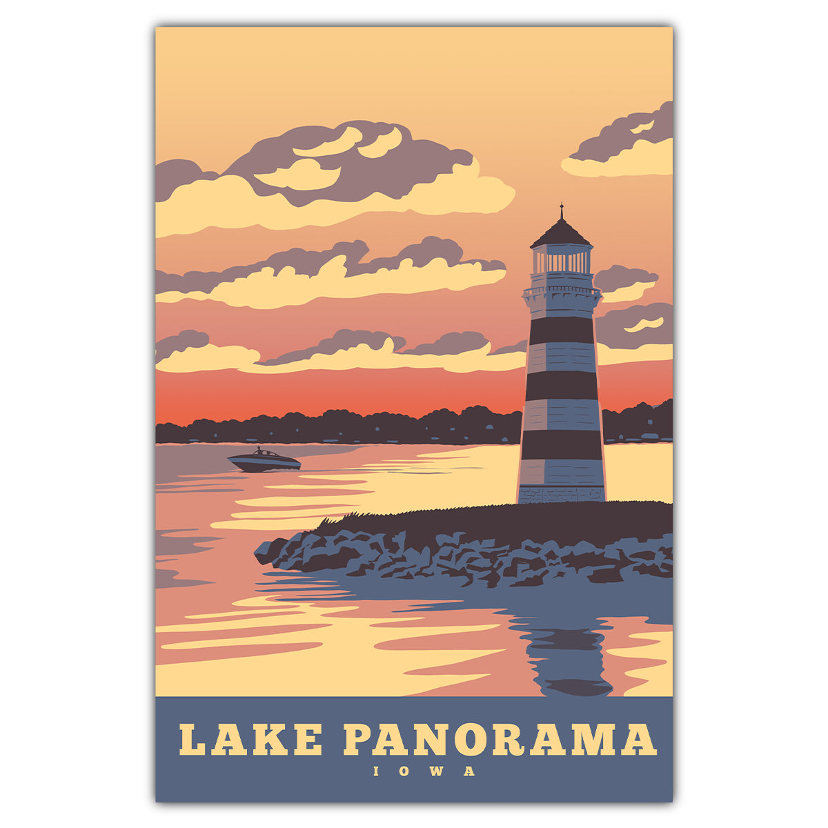 Lake Panorama Postcard