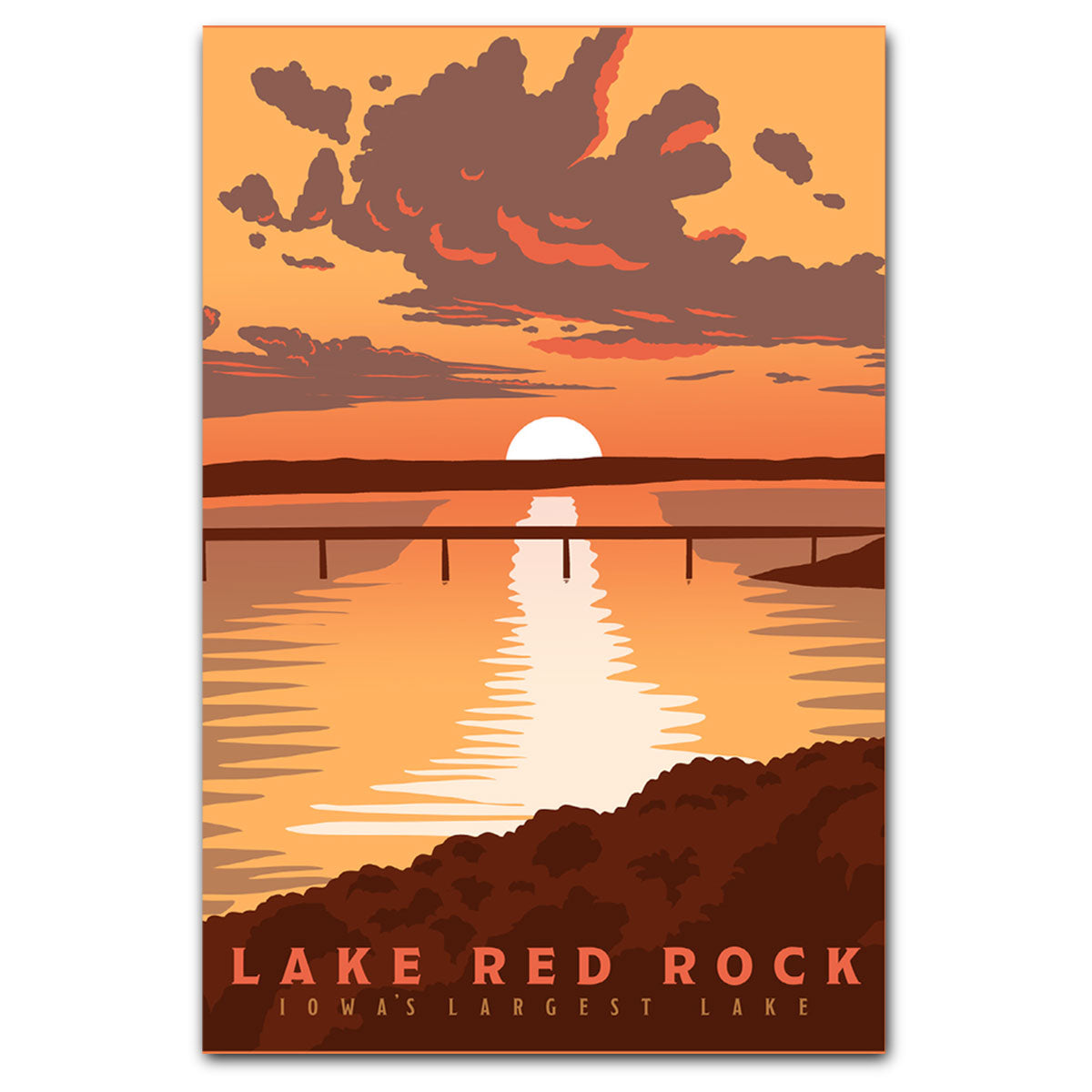 Lake Red Rock Postcard