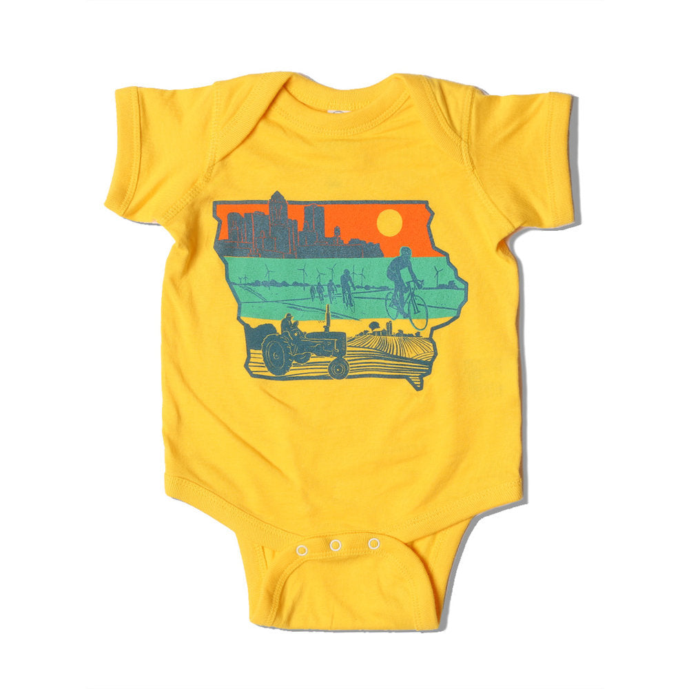 Layers of Iowa Onesie