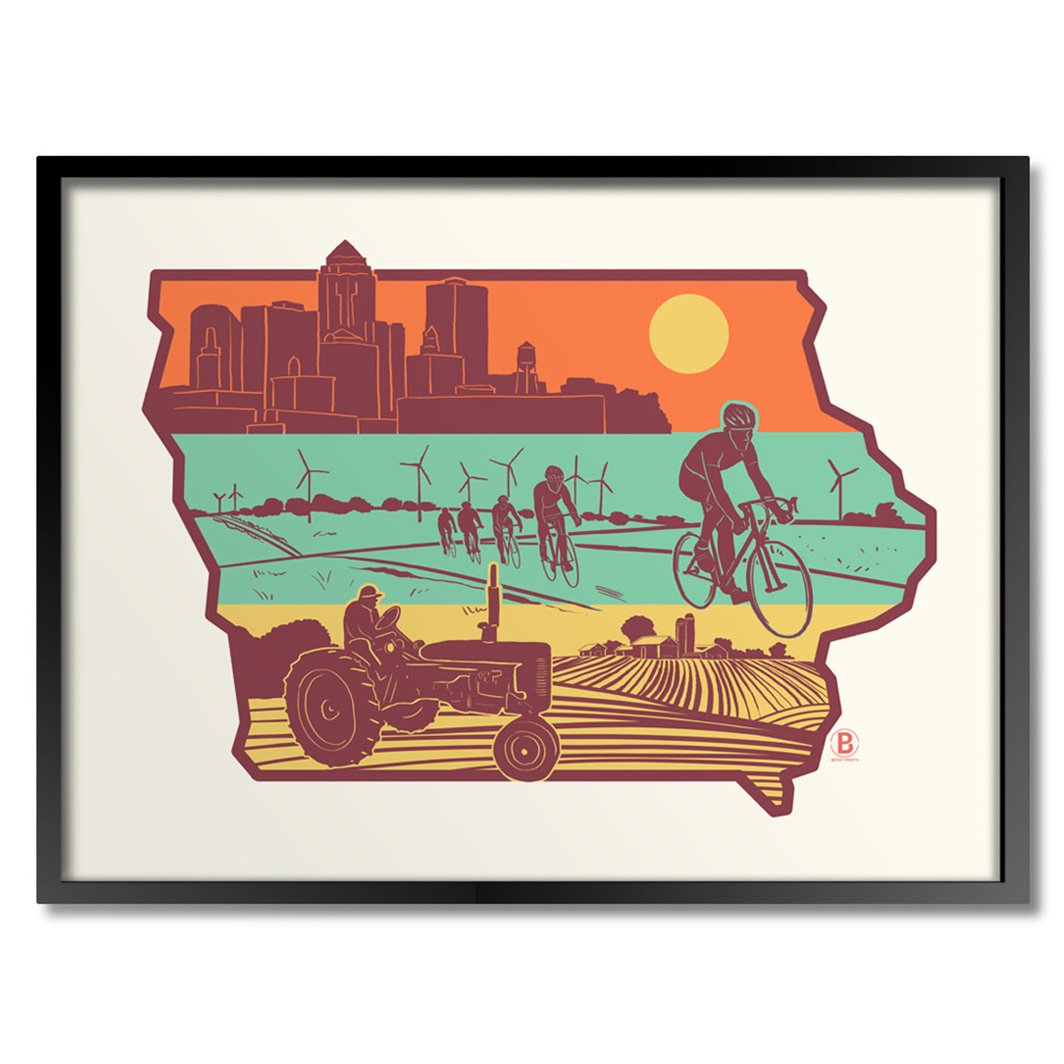 Layers of Iowa Print