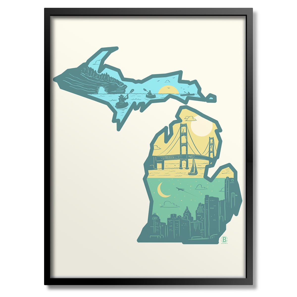 Layers of Michigan Print