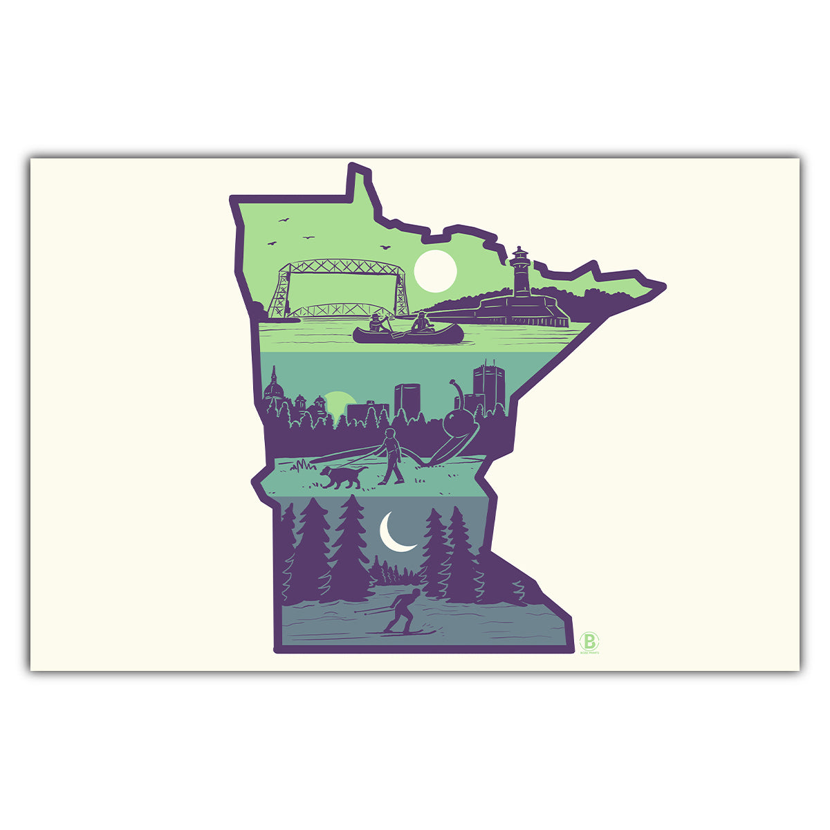 Layers of Minnesota Postcard