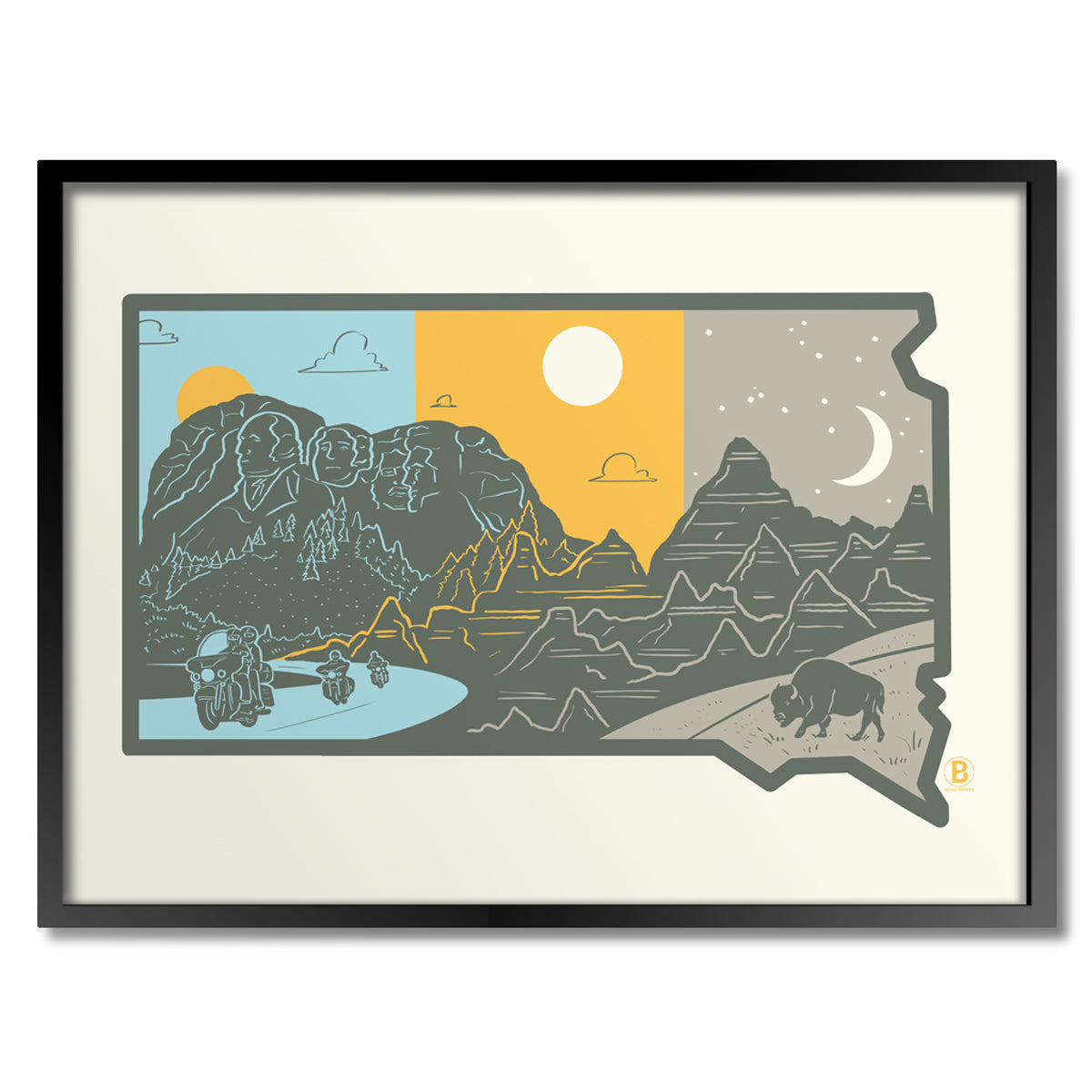Layers of South Dakota Print