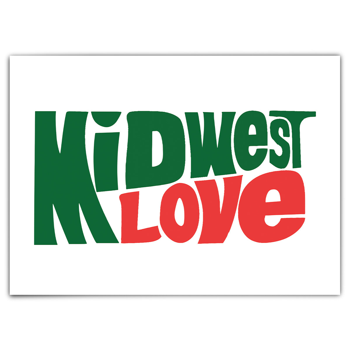 Midwest Love Greeting Card