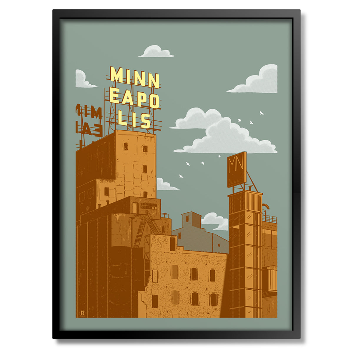 Minneapolis Gold Medal Sign Print