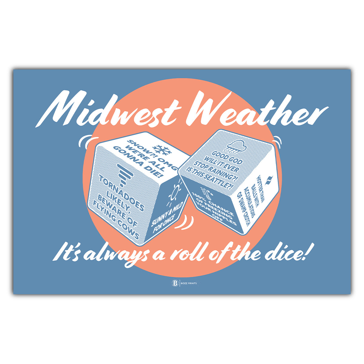 Midwest Weather Postcard