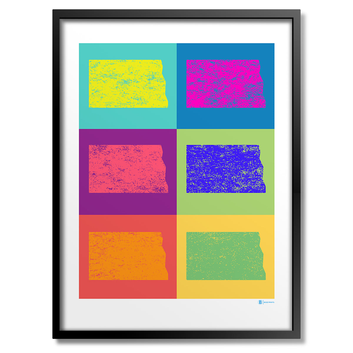 North Dakota Pop Art Print
