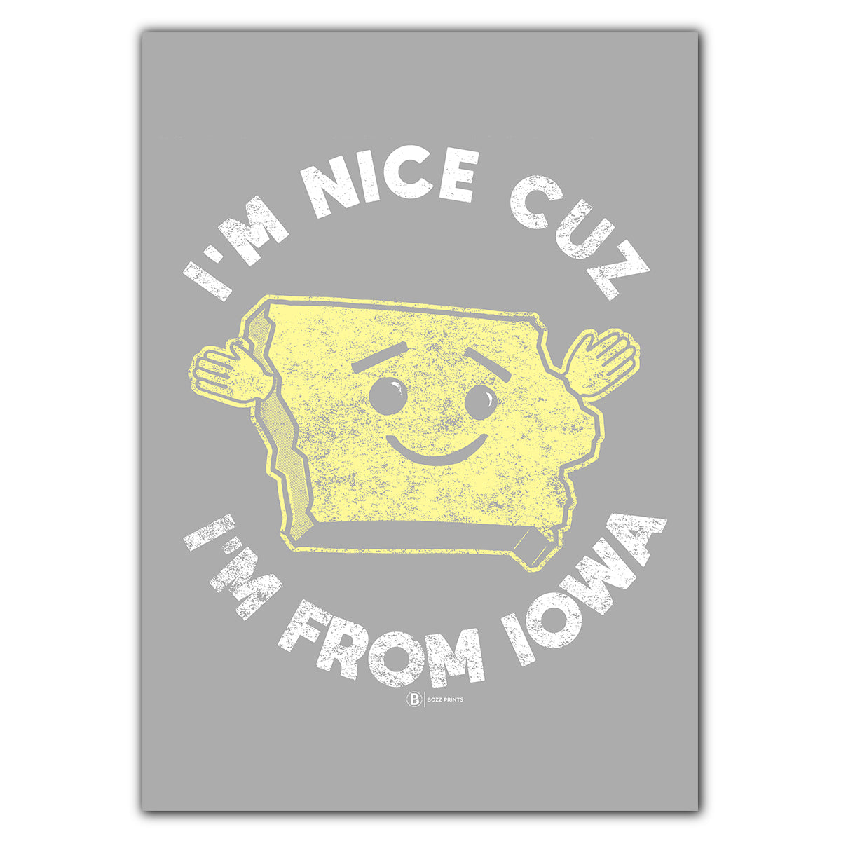 I'm Nice Cuz I'm From Iowa Greeting Card