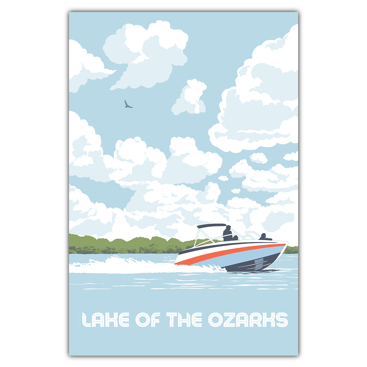 Lake of the Ozarks Sky Postcard