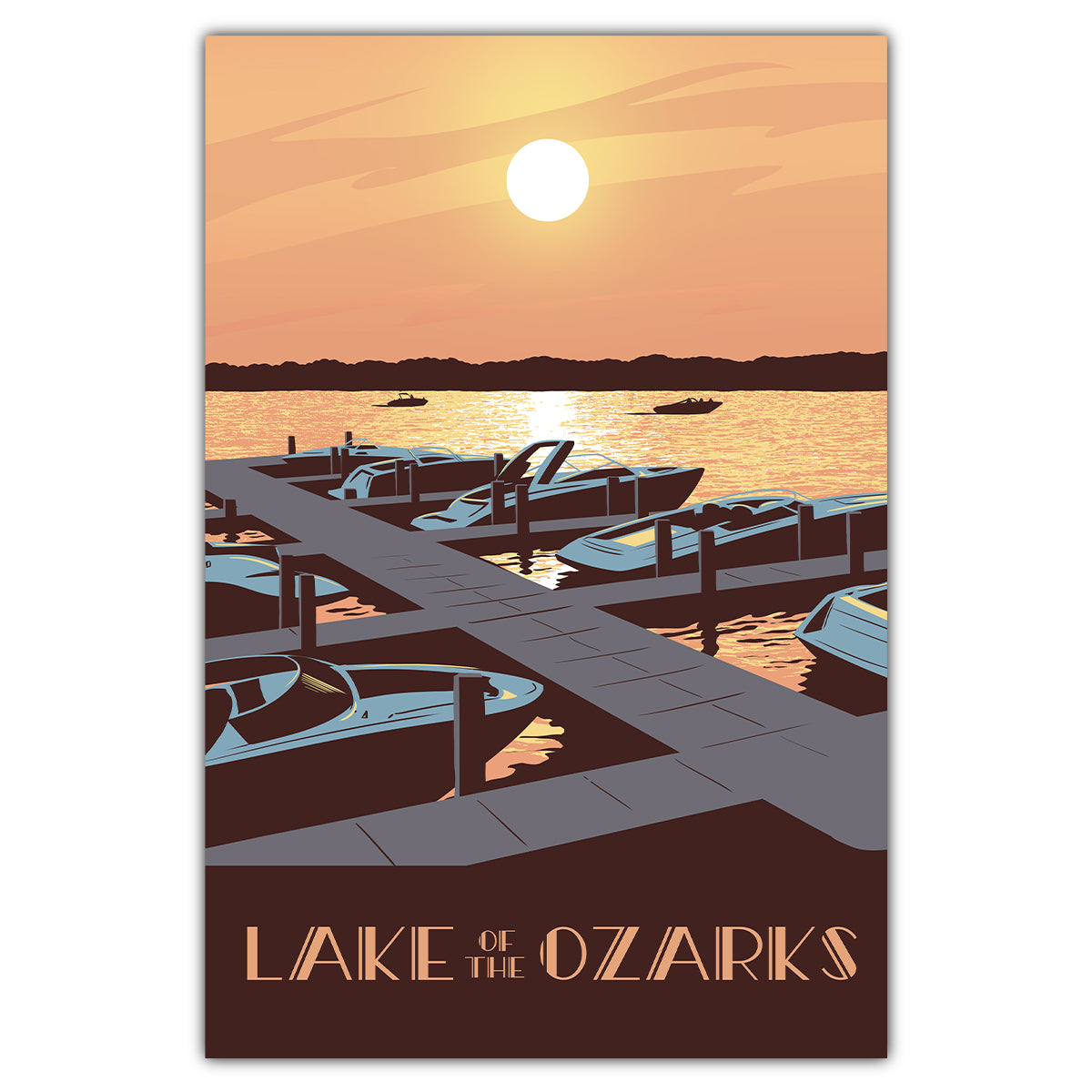 Lake of the Ozarks Sunset Postcard