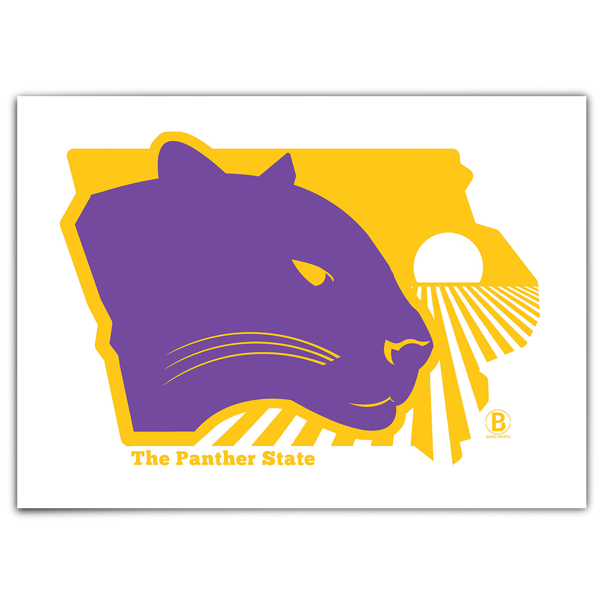 The Panther State Greeting Card