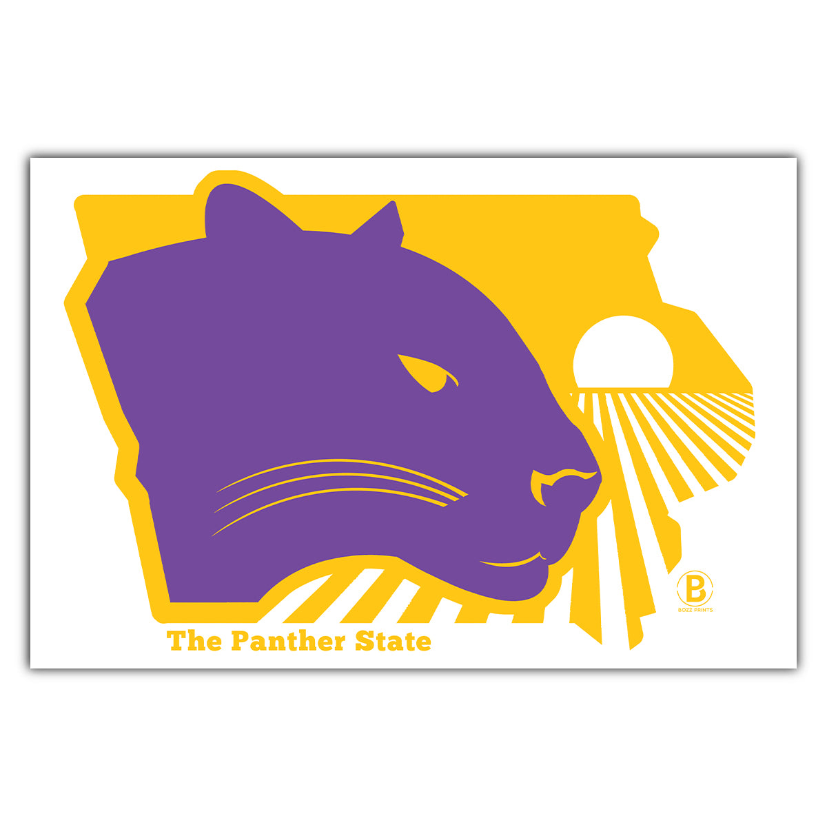 The Panther State Postcard