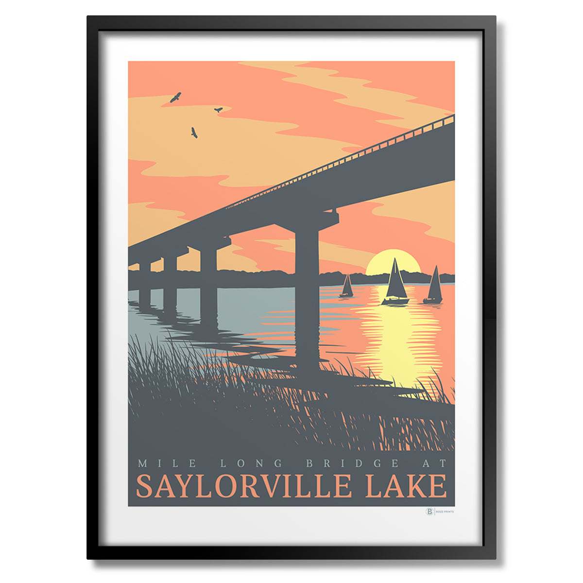Saylorville Lake Bridge Sunset