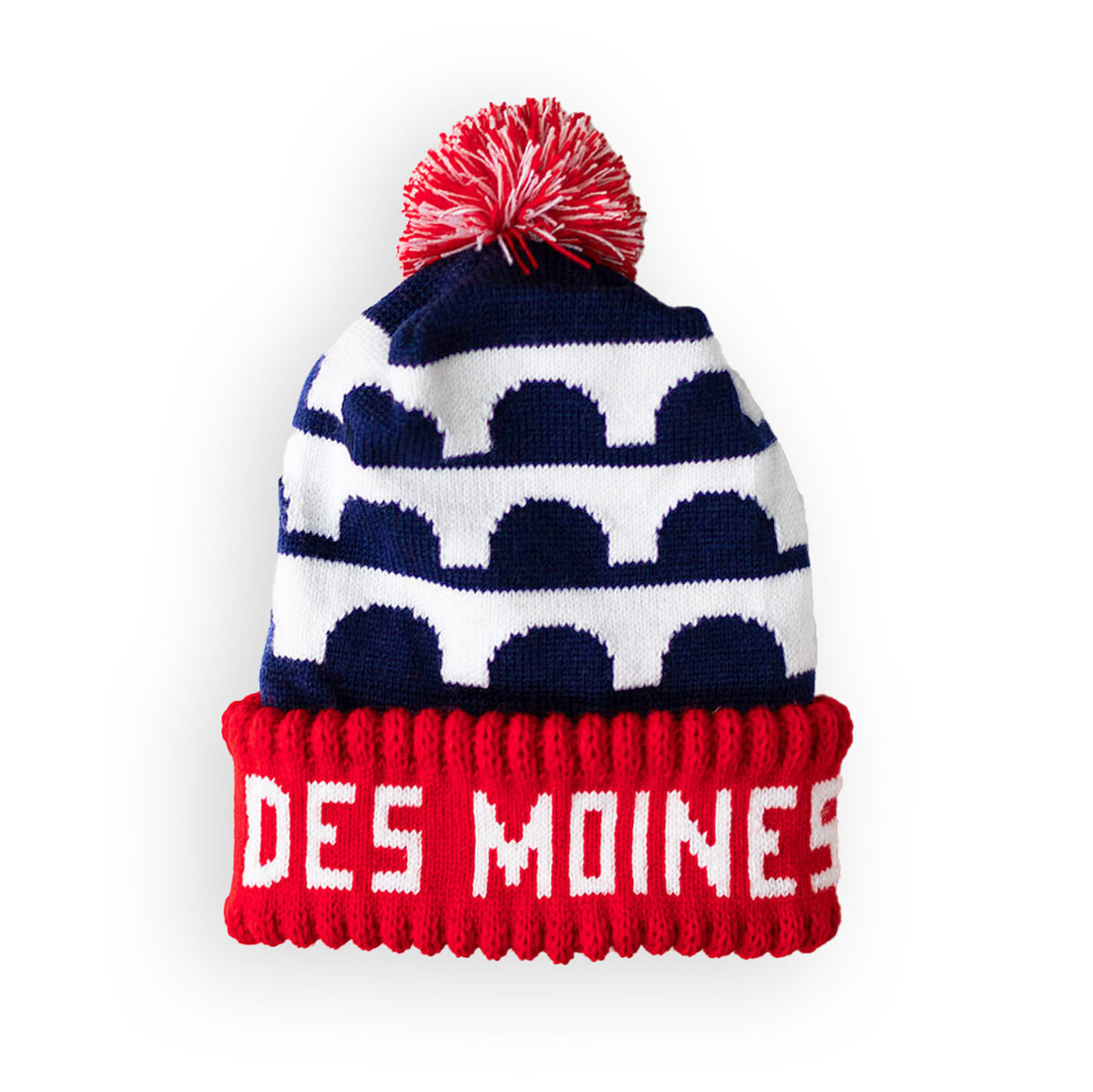 Des Moines Flag Navy Stocking Cap