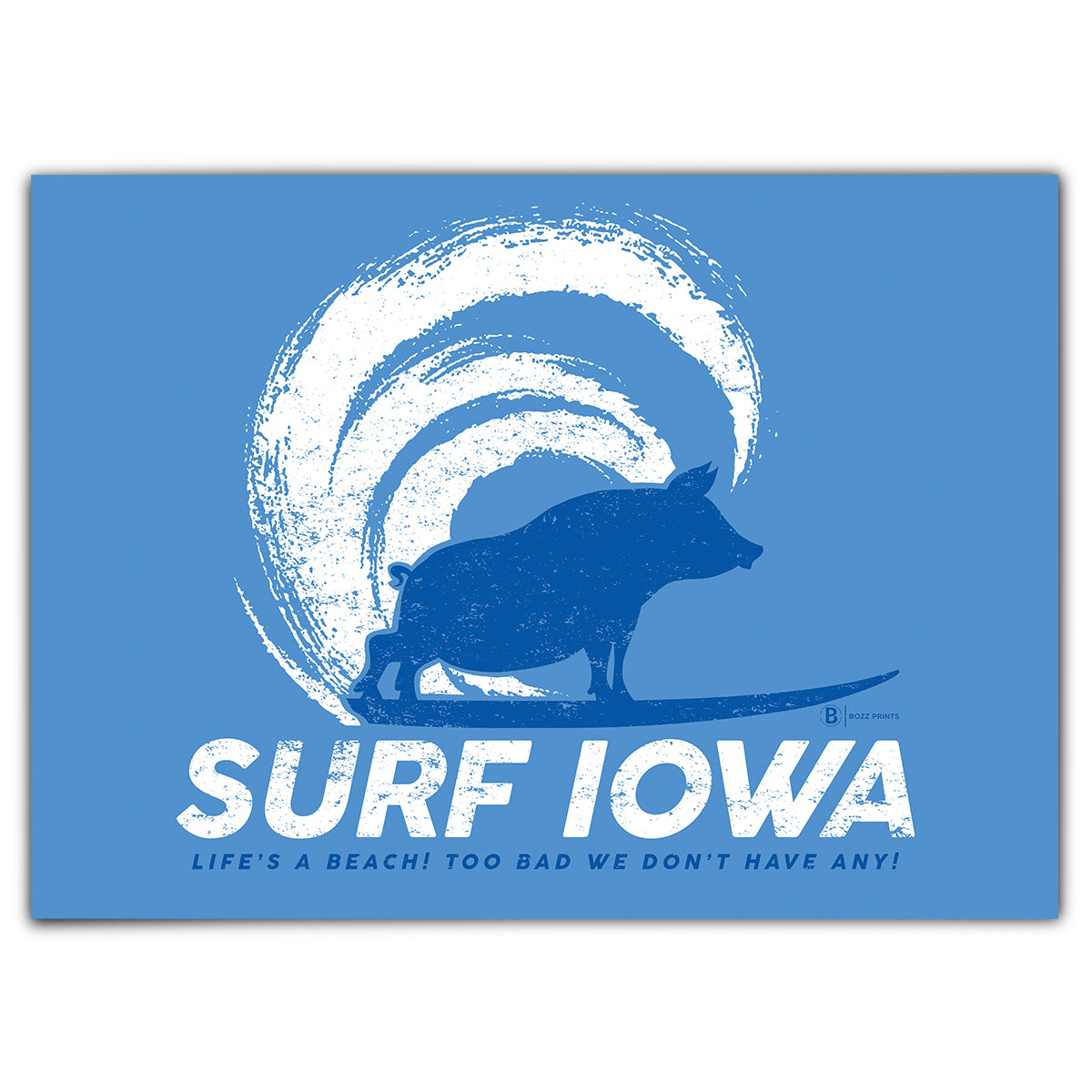 Surf Iowa Greeting Card