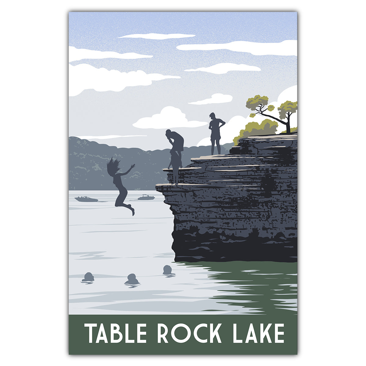 Table Rock Lake Cliffs Postcard