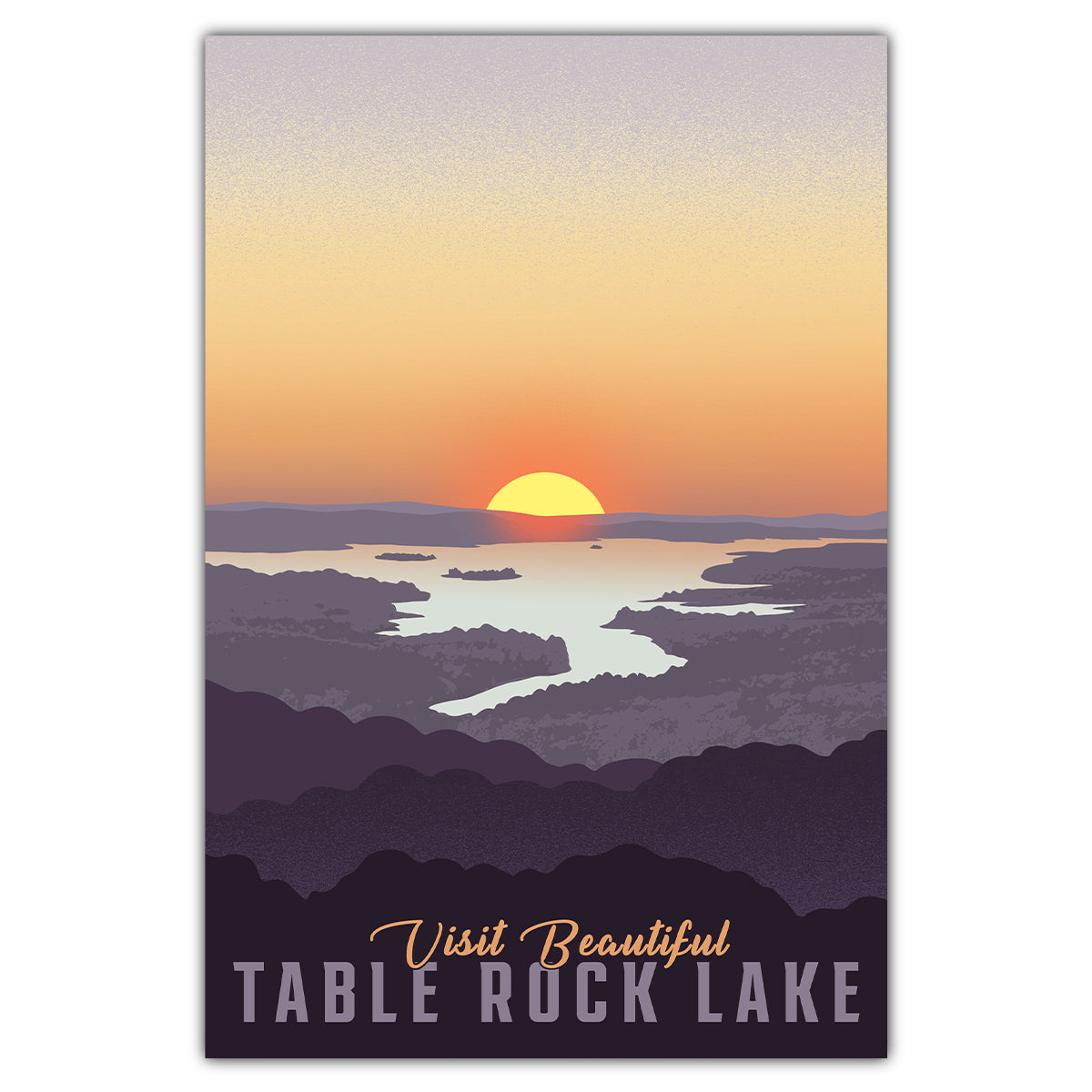 Table Rock Lake Sunset Postcard