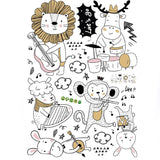 Animal Music Band Stickers