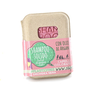 SHAMPOO SOLIDO ALL' ORCHIDEA NERA PER CAPELLI COLORATI