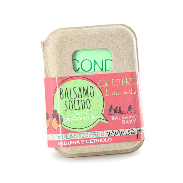 BALSAMO SOLIDO CONDITIONER BABY ALL' ANGURIA E CETRIOLO