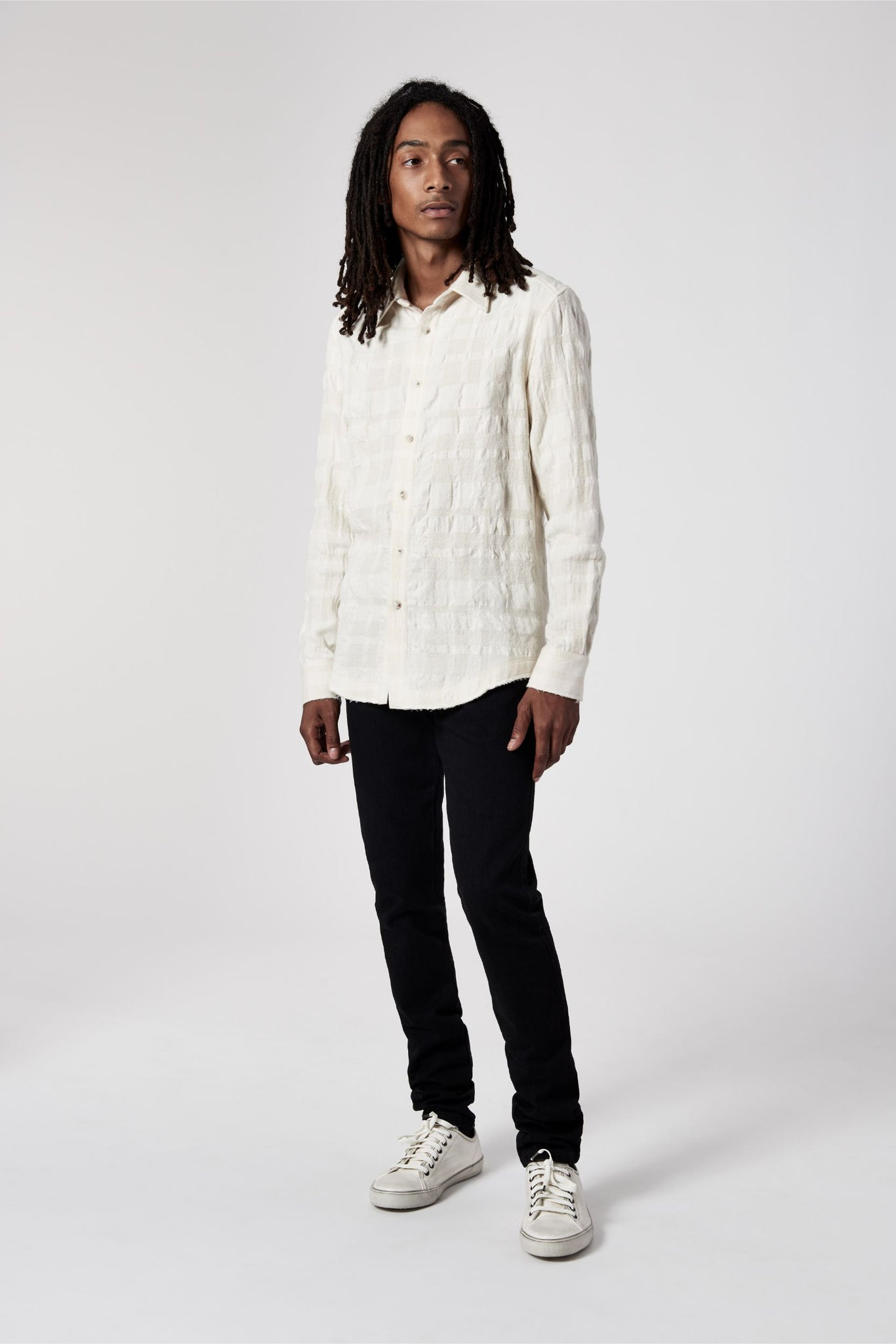 Raw Edge Shirt Cream