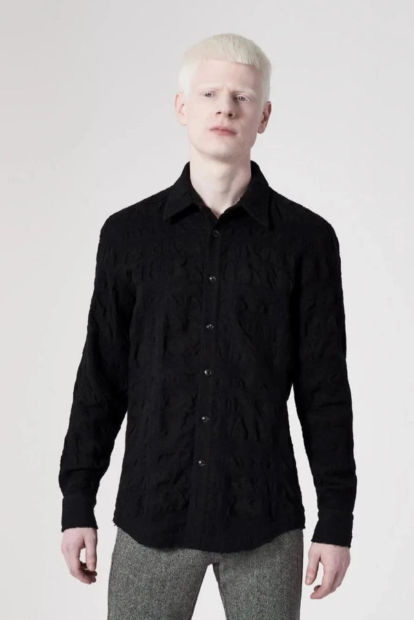 Raw Edge Shirt Black