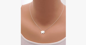 Geometric Origami Elephant Necklace