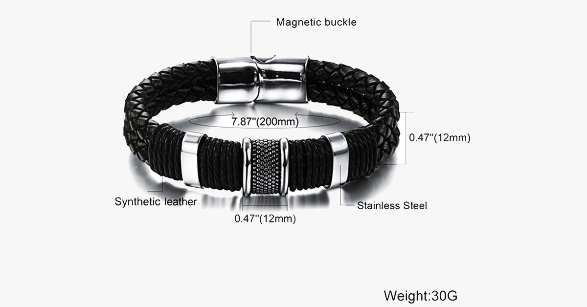 Stainless Steel Magnetic Clasps Bracelet