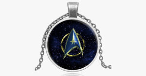 Star Trek Inspired Glass Pendant