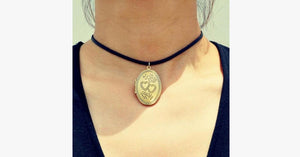 Locket Choker Necklace