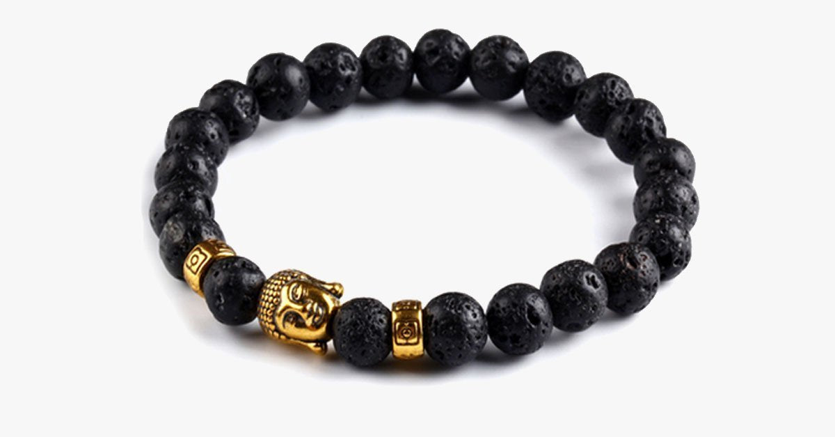 Tibetan Men's Bracelet with Natural Stones – Lift Up Your Mood and Energy