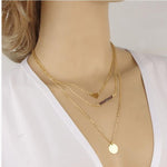 Imitation Crystal Bar Necklace