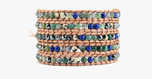 Long Beach Stone Wrap Bracelet