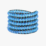 Blue Thunder Wrap Bracelet