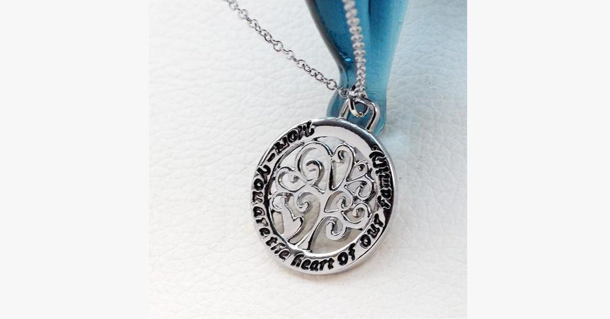 Mom You Are The Heart of Our Family Pendant