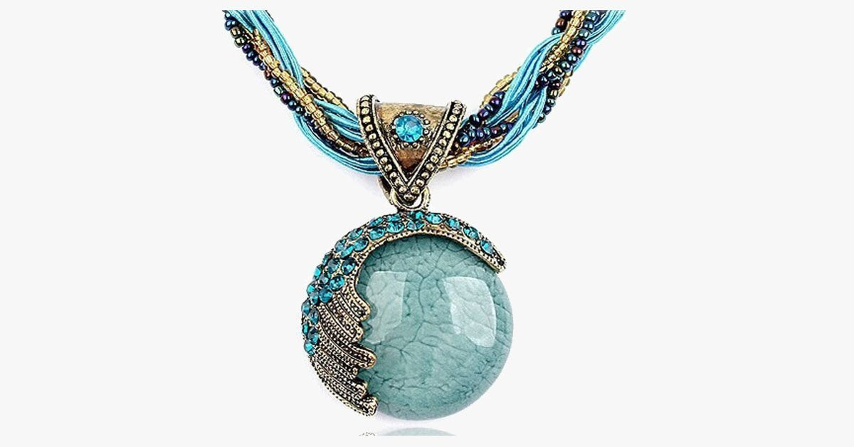 Bohemian Gemstone Pendant - Bohemian Stone for a Fashionable Look