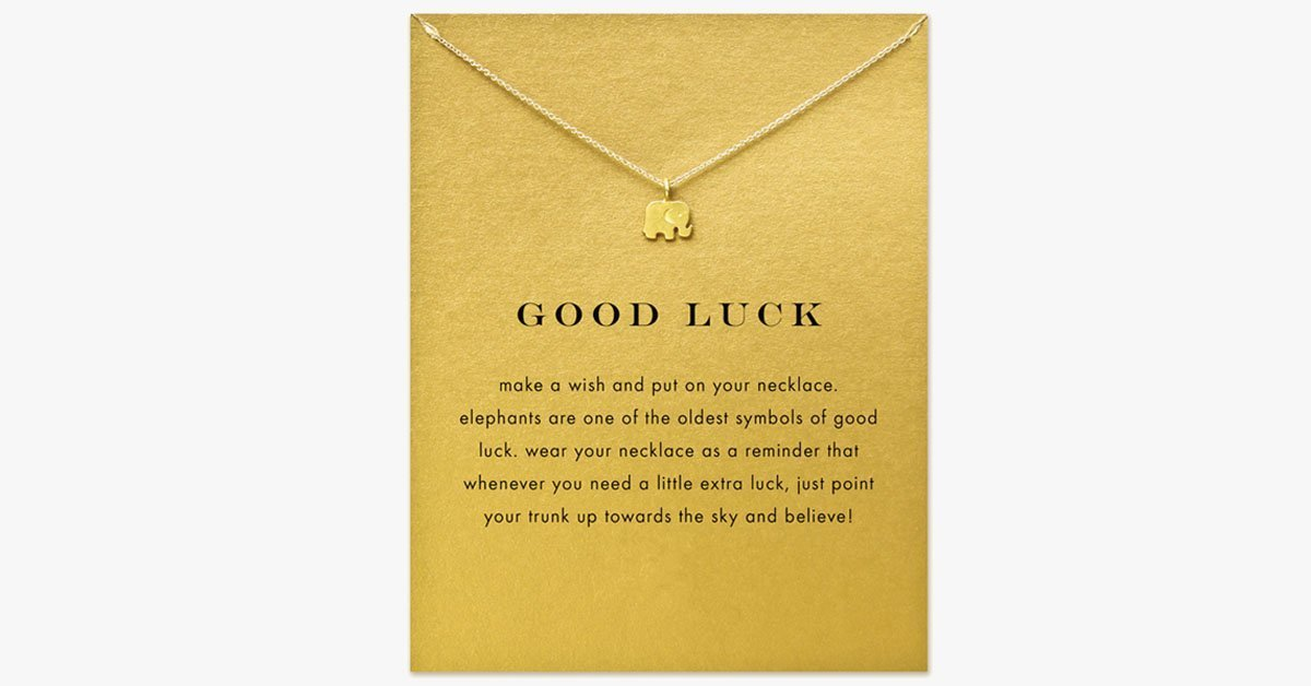 Good Luck Elephant Pendant