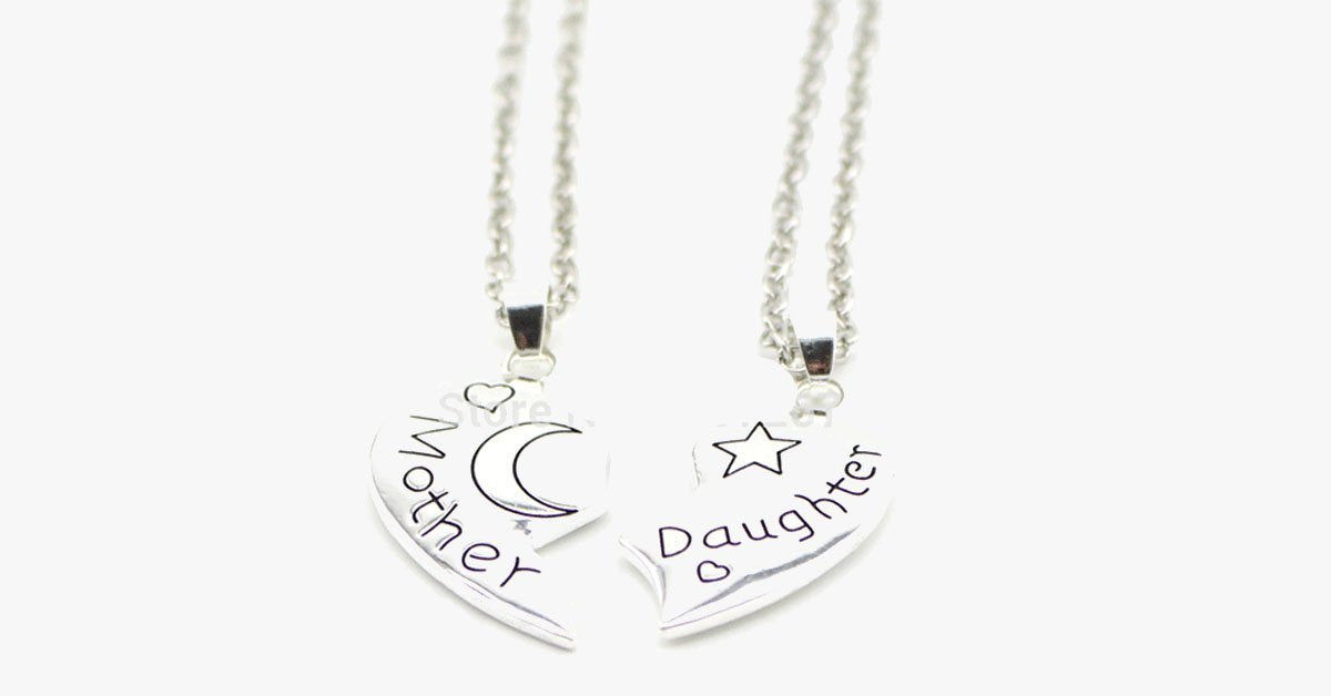 Moon and Back Daughter Necklace