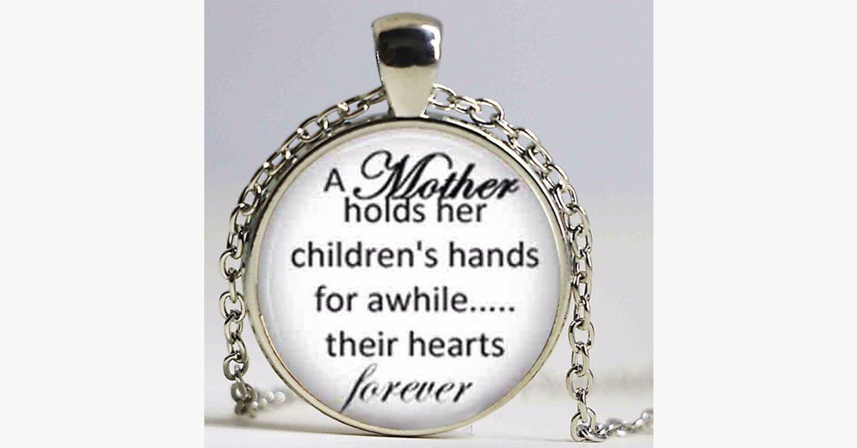 Mother-Children Pendant Necklace
